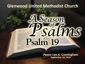 A Season of Psalms: Psalms 19